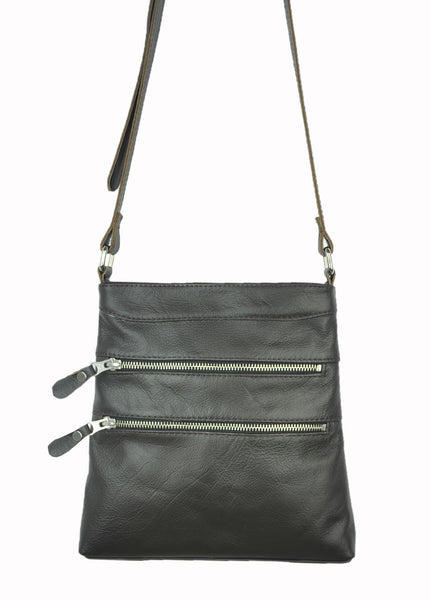 Madison Cross Body - Soft Dark Chocolate Brown - Allow 4-5 weeks for delivery