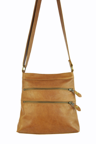 Madison Cross Body - Soft Light Brown - Allow 4-5 weeks for delivery