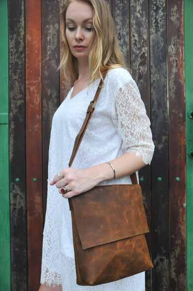 Eindhoven Bag - Large - Natural Medium Brown - Allow 4-5 weeks for delivery