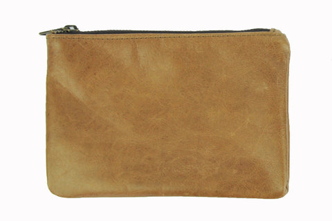 Simple Pouch - Soft Light Brown - Allow 4-5 weeks for delivery