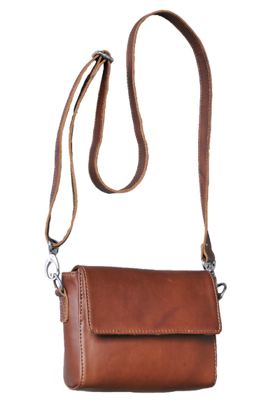 Small Mod Art Bag w Strap - Soft Medium Brown - Allow 4-5 weeks for delivery