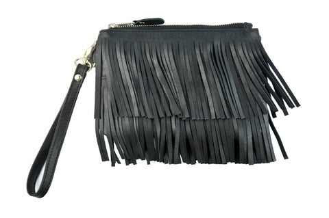 Los Angeles Day-Pouch - Soft Black - Allow 4-5 weeks for delivery
