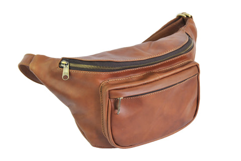 Waist Bag - Soft Medium Brown - Allow 4-5 weeks for delivery