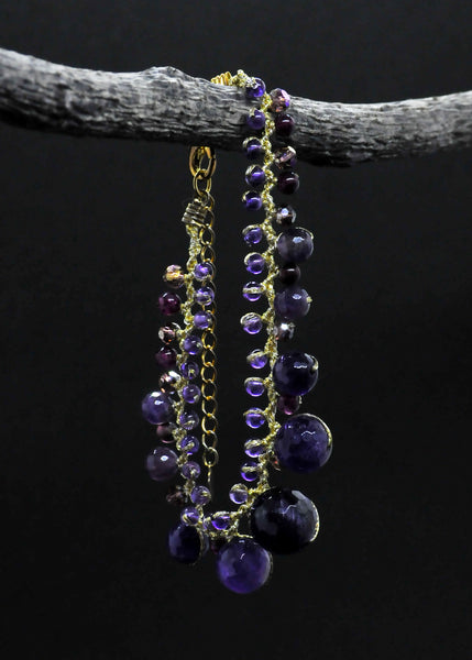Amethyst and jade bracelet