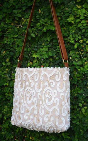 Lace Messenger Bag