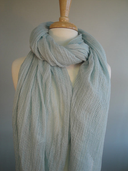 Double open weave shawl - glacier
