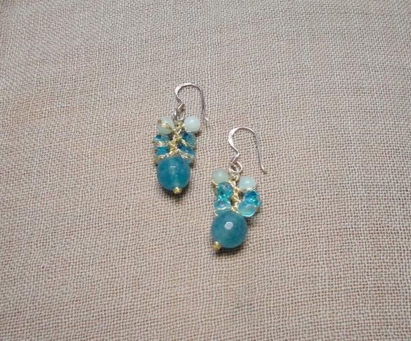 Aquamarine Blue Drop Earrings