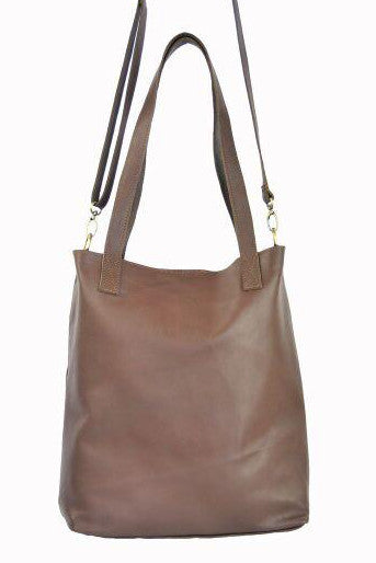 Vert Tote w Shoulder Strap - Soft Chocolate Brown - Allow 4-5 weeks for delivery