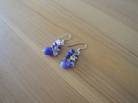 Delicate Amethyst Drop Earrings