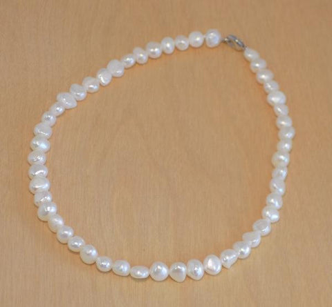 CLW natural pearl necklace 16""