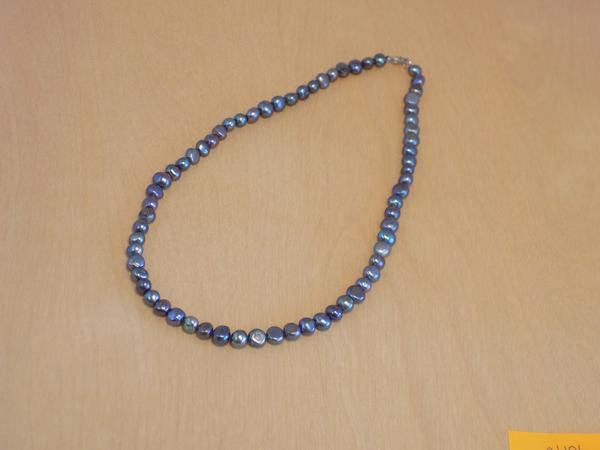 BLK natural pearl necklace 18''