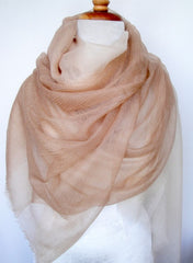Cashmere Luxembourg Wrap - Beige