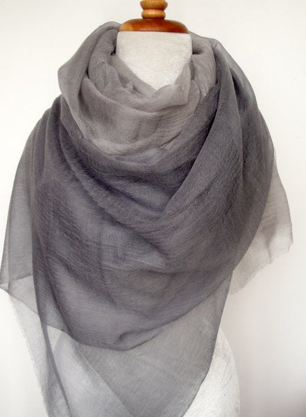 Cashmere Luxembourg Wrap - Gray