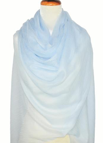 Cashmere Luxembourg Wrap - Light Blue