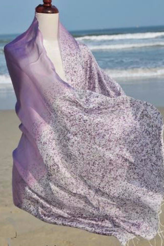 Narrow Thai Silk Art - Purple Ombre