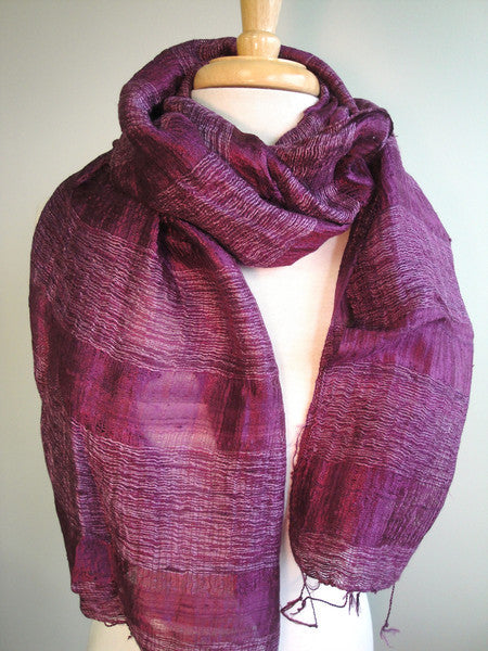 Silk Texture Scarf in Dusty Violet