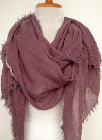 Wool w (viscose) ribbon edge - Plum