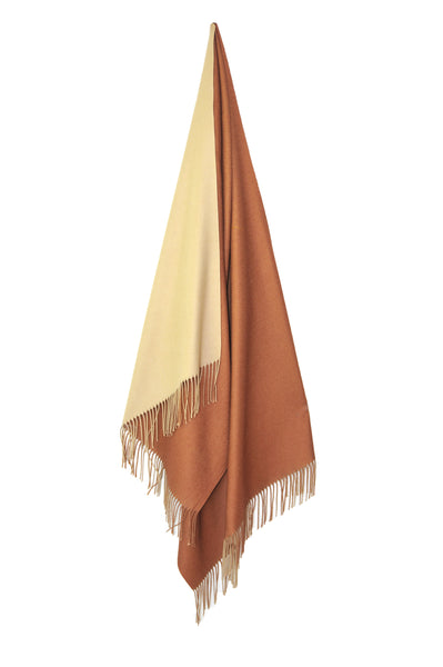 Inside Out Shawl - Bronze w Cream