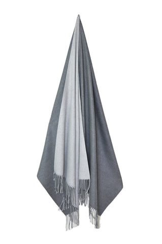 Inside Out Shawl - Light Gray w Dark Gray