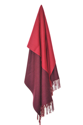 Inside Out Shawl - Marsala w Plum