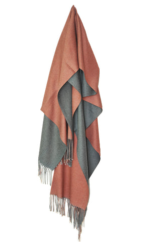 Inside Out Shawl - Mauve w Dark Gray
