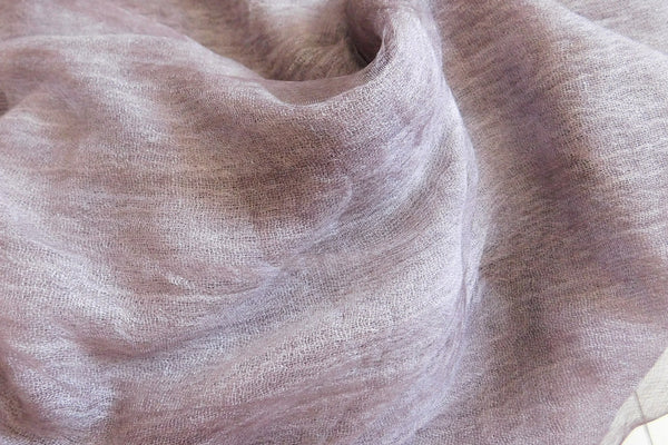 Soft double layer silk w cotton scarves in Fig - ETA Oct 26