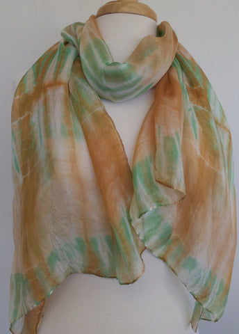 Skinny Water Color Silk infinity - Brickyard Cove