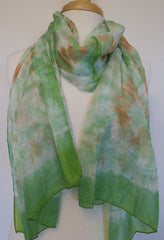 Skinny Water Color Silk scarf - Fresh Green