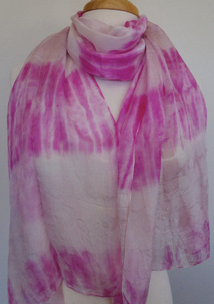Skinny Water Color Silk scarf - Pale Orchid