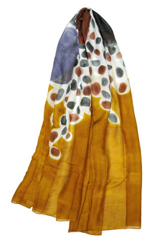 Mod Art Silk w Cotton Scarves - Exfoliation  - ETA Feb 12