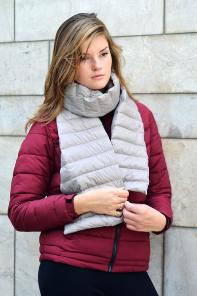 Duck Down Scarf - Light Gray