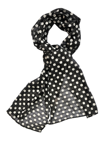 White Dots on Black Scarf  - ETA Dec 15
