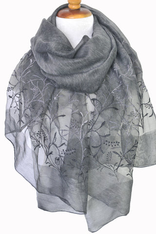 Silk w Wool Winterfield - Dark Gray