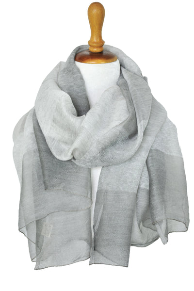 Silk w Wool Shadowbox - Light Gray