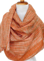 Orly check - wool w viscose - Orange