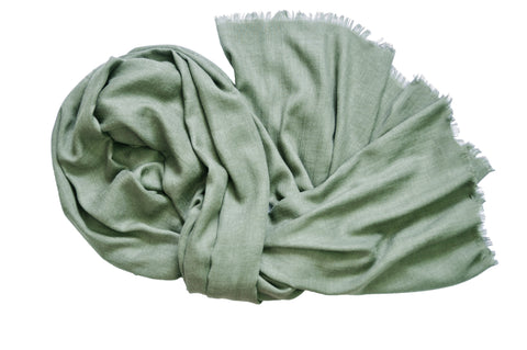Oversized Modal Solid Scarf in Olive Green