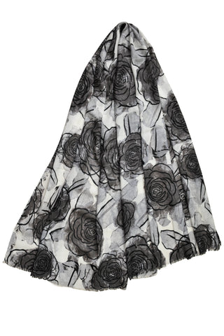 Merino Evening Flower - Charcoal