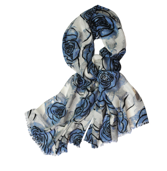 Merino Evening Flower - Light Blue