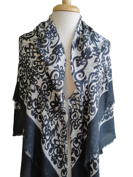 Merino Medici Scroll - Dark Gray