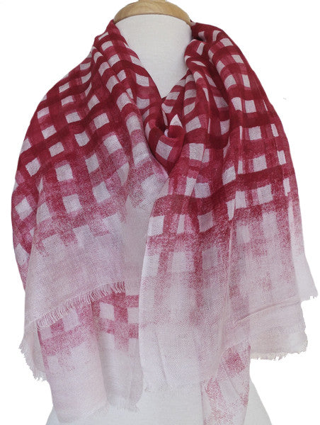 Brushstroke Silk & Modal Scarf in Strawberry Pink