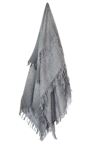 Cashmere w Merino Shawl - Light Gray - ETA Aug 1