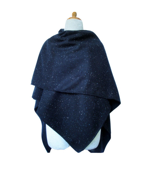 Gabriella Wool Shawl - Evening Blue