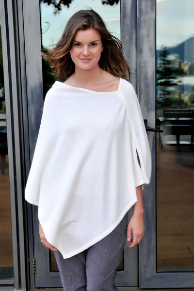 Cotton w Cashmere Poncho - Starch