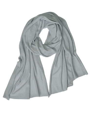 Cotton w Cashmere Scarf - Flannel Gray