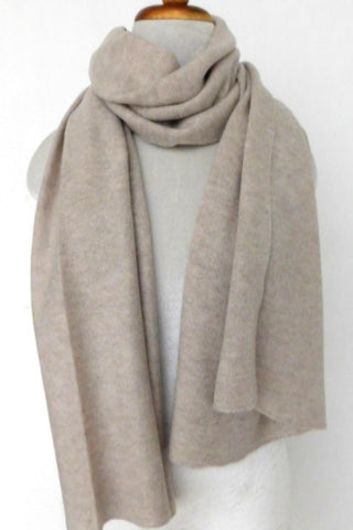 End of dye lot sale - Cashmere Merino Knit Scarf - Beige