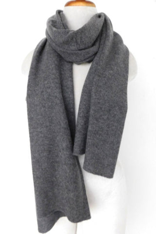 Cashmere w merino knit scarf - Dark Gray  - ETA Apr 10