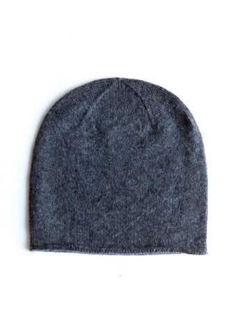 Cashmere w merino knit cap - Dark Gray - ETA Dec 18