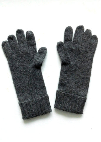 Cashmere w merino knit gloves -Dark Gray - ETA Dec 18