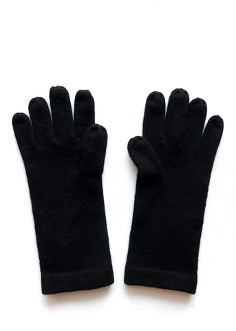 Cashmere w merino knit gloves - Black - ETA Dec 18