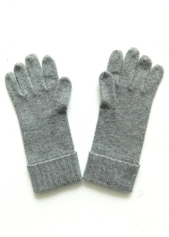 Cashmere w merino knit gloves - Light Gray - ETA Dec 18